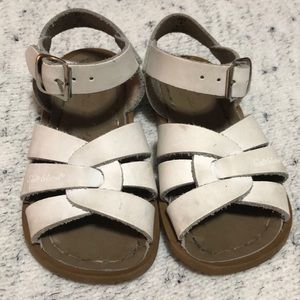 Toddler Girl Salt Water Sandals White